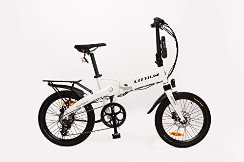 Littium Bicicleta eléctrica Ibiza Dogma 03 14A Blanca, Adultos Unisex, Plegable