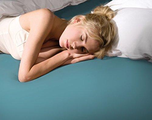 Bella donna la piccola/turquoise 200 formesse 80 drap-housse en jersey pour surmatelas de les lits, hauteur 10 cm