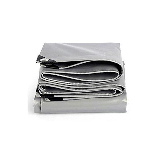 JU FU Bâche polyvalente polyvalente bâche tente abri imperméable résistant aux intempéries Forte renforcé gris Poly Tarp -0.45mm-550g / m² @ (Couleur : Silver, taille : 4x6m)