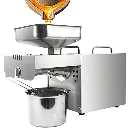 RSTJ-Sjap Oil Press Machine Cold Hot Nuts Oil Expeller Commercial Home Automatic Stainless Steel Extractor for Peanut Seeds