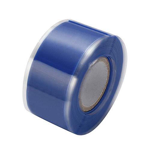 Isolierband, Silikonreparatur-Dichtungsband, wasserdichtes selbstschmelzendes Rohrreparaturband (2,5 cm x 3 m, 1 Stück, blau)