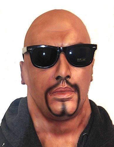 De Rubber Plantation TM 619219294027 Volledige Hoofd Realistische Man Masker met Geit Baard en Bril Latex Fancy Jurk Kostuum Accessoire, Unisex-Volwassene, Een Maat