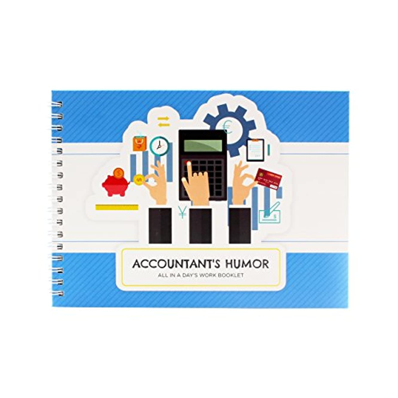 Original Accountant Gifts - Personalizable Humor Booklet With Matching Card For Your Favorite Auditor, Bookkeeper Or Cpa - Extremely Easy-to-fill And Thoughtful Gift Ideas for Colleague or Co-Worker