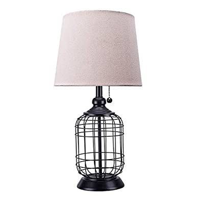 CO-Z Birdcage Farmhouse Table Lamp