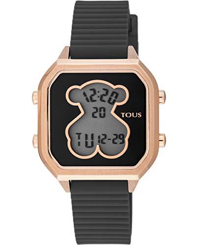 Reloj Tous D-Bear Teen Square IPRG Silicona Negra Ref 100350400