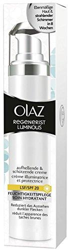 Olaz Regenerist Luminous aufhellende und schützende Creme mit UV-Schutz, Pumpe, 50 ml