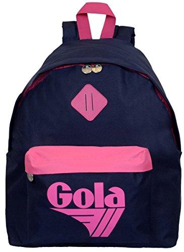 Zaino Gola Harlow Neon - 42x33x14 cm - CUB139 - Navy/Neon Pink
