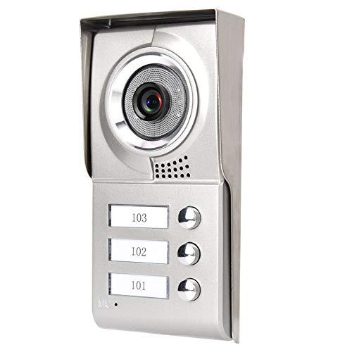 Visor de puerta Pantalla TFT-LCD a color de 7 pulgadas Videoportero de 4 cables Timbre de la puerta Teléfono 3 apartamentos 100-240 V para la seguridad del hogar(EU(100-240v))
