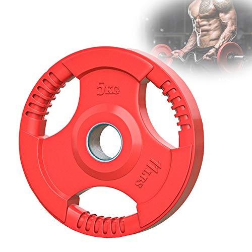 Grist CC Color Olímpico Disco Hierro, Discos De 50Mm De Diámetro con Agarre, Familia Musculación Mancuernas Discos De Pesas,5kg