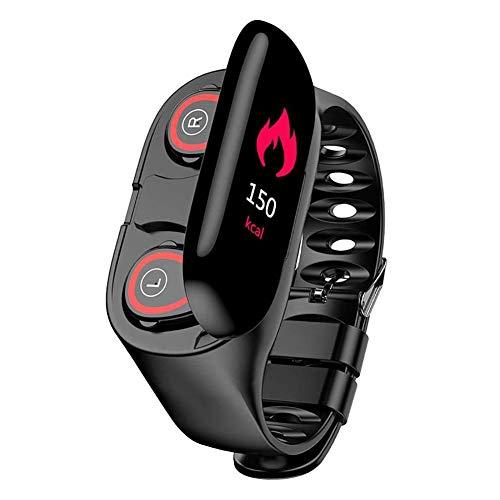LG&S Fitness Tracker Impermeabile con Wireless Bluetooth Headset 2-in-1 di Sport Intelligente Orologio per Monitor di frequenza cardiaca, contatore di Calorie per la Maggior Parte Smartphone