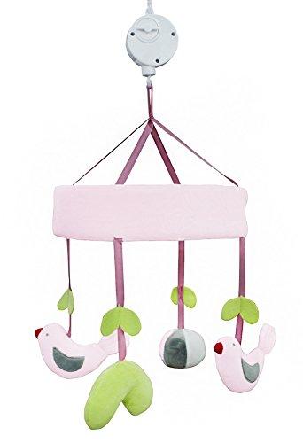 Décoration de berceau auto-design pour bébé, cadeau de naissance, berceau musical moelleux en peluche (oiseaux)