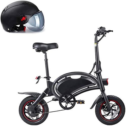 Bicicletas Eléctricas, Bicicleta de la ciudad eléctrica plegable de 14 ', hasta 25 km / h, velocidad ajustable u200b u200b bicicleta, batería de litio 250W 36V / 10.4AH, adulto unisex, padre-hijo for