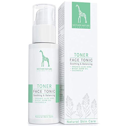 Face Tonic mit Bio-Aloe Vera, Weizenkeimöl und Calendula - NATURKOSMETIK VEGAN - 125 ml von Mother...