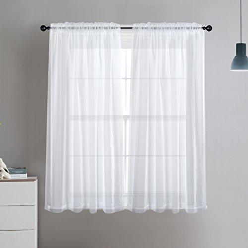 cortinas cortas blancas