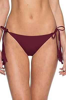 Becca by Rebecca Virtue Women's Dakota Tie Side Hipster Bikini Bottom Navy M