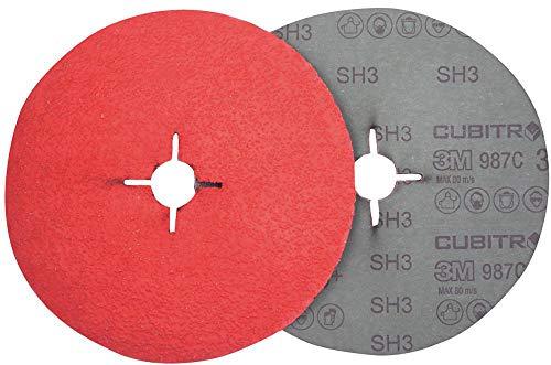 3M 68053000 Disco abrasivo Fibra 987C P060, 125 mm