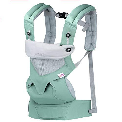 Tyhbelle Babytrage, Bauch-, Rücken- und Hüfttrage Tragegurt, Einstellbar Schnalle (3-20KG, 3-48 Monate) (Grün)