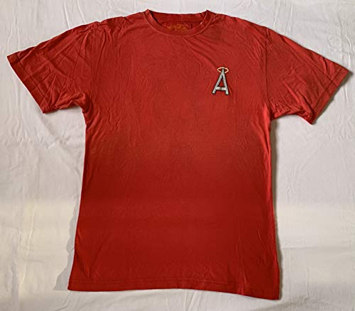 Red Jacket Official MLB California Angels Vintage Style T-Shirt w/Embroidered A, Size Large
