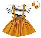 Carolilly Set di abbigliamento per bambini e bambine, estivo, per l'estate giallo. 18-24 Mesi