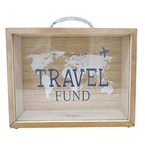 Takestop® - Hucha de viaje con forma de maleta - 20 x 16 x 7,3 cm - Ideal para ahorrar dinero en viajes - Ideal como regalo - Color aleatorio