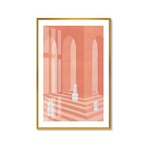 baodanla Kein Rahmen Neue Atmosphäre modernes minimalistisches geometrisches Gebäude-Ölgemälde...