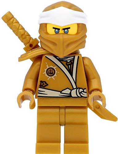 LEGO Ninjago Minifigur: Zane (Goldener Ninja) mit Schulterrüstung und Schwertern