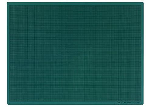 LINEX 100411033 Schneidematte A2 45 x 60 cm grün selbstschließende Oberfläche 3-Schichten-Bauweise für beidseitige Anwendung 1 Seite mit mm-Raster