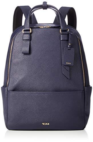 TUMI - Varek Worth Laptop-Rucksack aus Leder, 38,1 cm (15 Zoll), für Damen und Herren, Marineblau