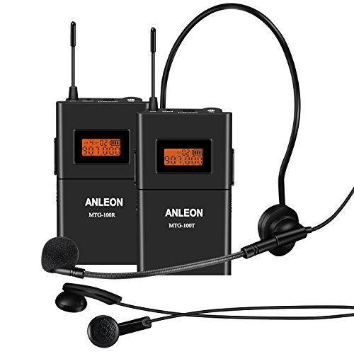 Anleon 902-927MHZ Tour Guide Wireless System Church System (1 Transmitter and 30 Receivers)