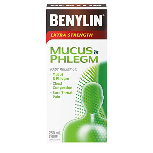 Benylin Extra Strength Mucous and Phlegm Relief Syrup, 250 ml