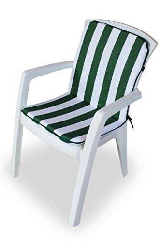 Maratex Cuscino Copri Sedia da Giardino 45x90 MOD. Relax Righe (Verde)