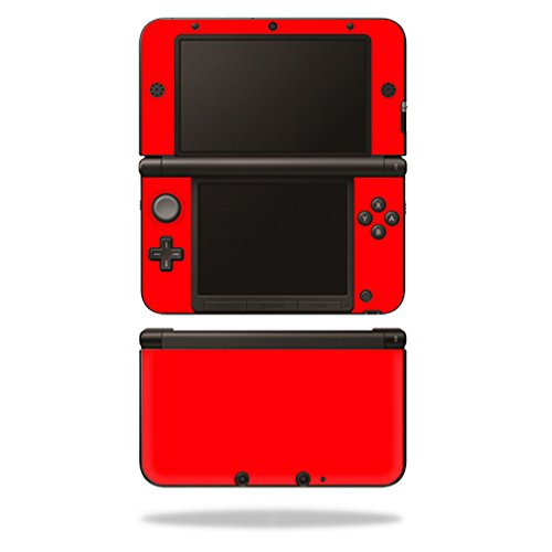 MightySkins Skin Compatible with Nintendo 3DS XL Original (2012-2014 Models) Sticker Wrap Skins Solid Red
