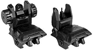 sniper Polymer Flip up Backup Sight Front and Rear Sight 20mm Rail Black