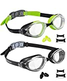 EverSport Swim Goggles, Pack of 2, Swimming Glasses for...