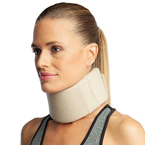 ArmoLine Halskrause - Halsbandage - Schaum Nackenstütze - Cervicalstütze - Nackenbandage (S (34-36 cm))