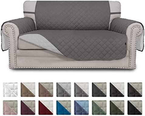 Best Easy-Going Sofa Slipcover Reversible Loveseat Cover Water Resistant Couch Cover Furniture Protector