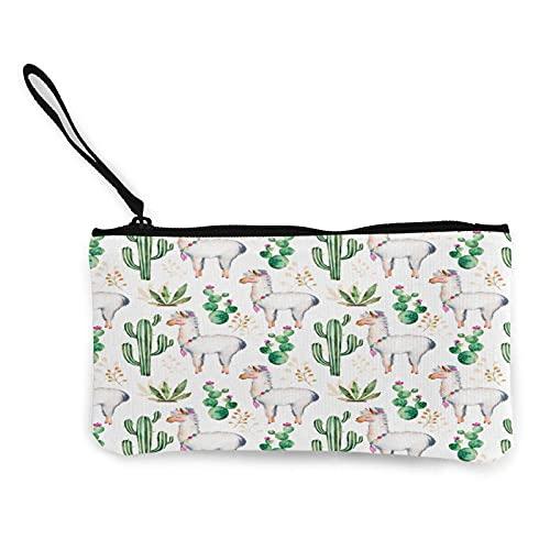 Monedero de animales y plantas de lona para cambiar monedero, bolsa de moda linda cartera pequeña con cremallera para ir de compras actividades al aire libre