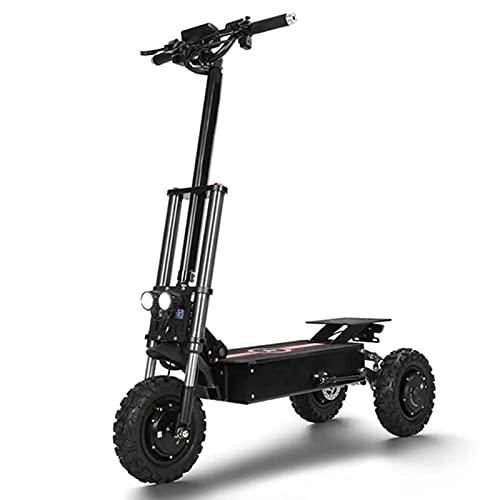 JAJU Plegable portátil, Scooter eléctrico, Scooter Todoterreno, Scooter de Tres Ruedas, Motor 3600W, Tiempo de Carga 10 Horas, Potencia Nominal 1200W 3 Motor
