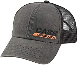 Case Construction Twill Black hat with mesh back 330759