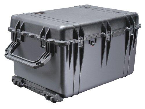 PELI 1660 valise étanche aux chocs, IP67 étanche à l'eau et à la poussière, capacité de 160L, fabriquée en Allemagne, sans mousse, couleur: noire