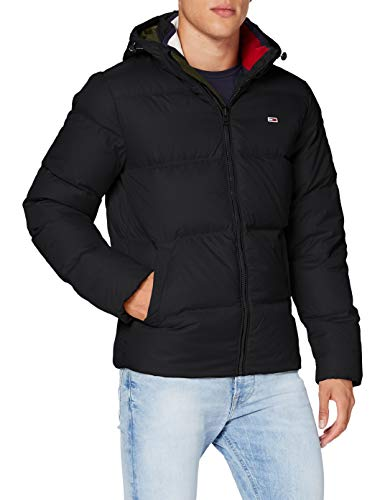 Tommy Jeans TJM Essential Down Jacket Chaqueta, Negro, XS para Hombre