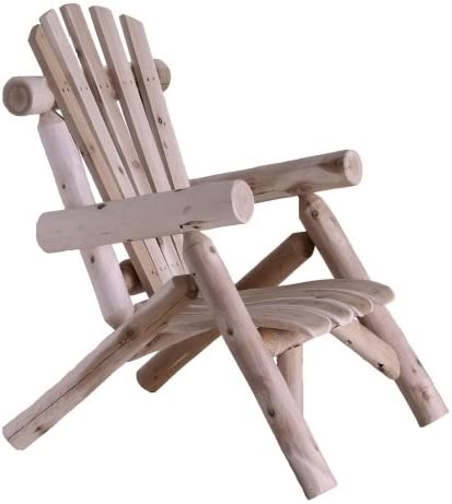 Best Lakeland Mills Cedar Log Lounge Chair, Natural