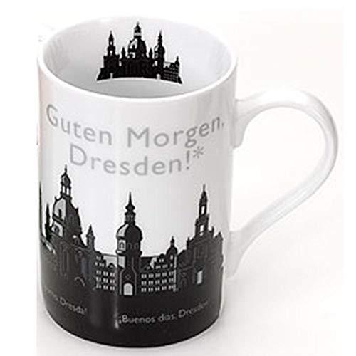 Stadtbummler Tasse Guten Morgen Dresden Skyline schwarz/weiß | Souvenir
