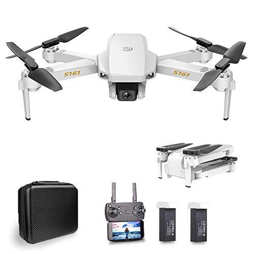 Goolsky CSJ S161 Mini Drone Pro con Cámara 4K Posicionamiento de Flujo óptico Cámara Dual Altitud Hold Gesto Fotos Video 3D FILP RC Quadcopter (Posicionamiento de Flujo óptico & 2 Batería)