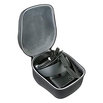 co2crea Hard Travel Case Replacement for Oculus Rift S PC-Powered VR Gaming Headset (Black Case + Inner Box)