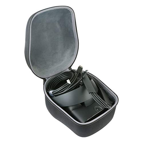 co2crea Hard Travel Case Replacement for Oculus Rift S PC-Powered VR Gaming Headset (Black Case)