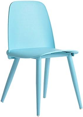 生活必需品/チェアラウンジチェア現代のミニマリストスタイルブルーグレーホームレジャーレストランティーショップ議長ファッションクリエイティブの話ダイニングチェア (Color : Grey, Size : 41*50*79CM)
