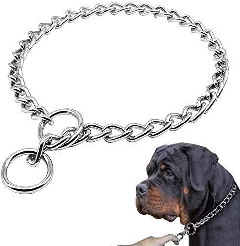 Supet Stainless Steel Dog Choke Chain Collar, Puppy Metal P Chain Slip...