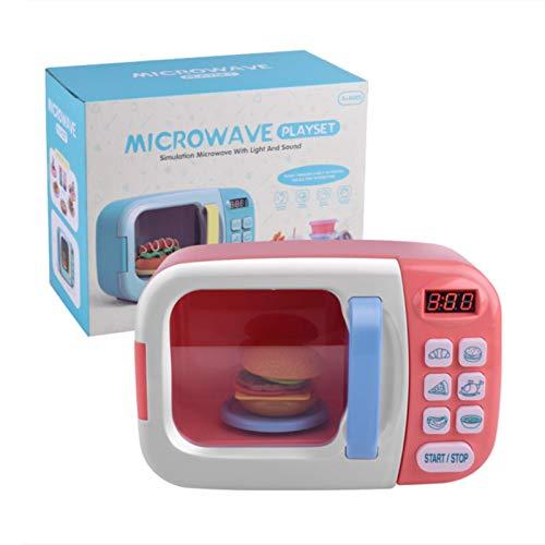 likeitwell Vajilla de microondas Juguetes,con juegos de simulación Juego de juguetes Alimentos falsos Utensilios de cocina Juguetes Juguete de casa para niños con luces y sonidos cool