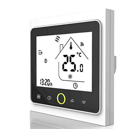 Smart Wifi Thermostat, Wifi Programmierbarer Wasserthermostat LCD Display Temperaturregler Kompatibel mit Alexa, Google Home, IFTTT, 5A